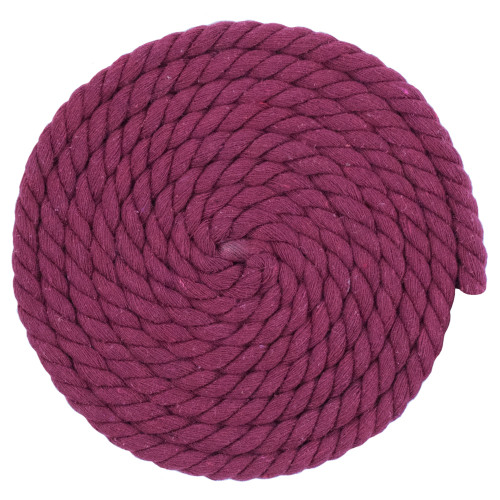 1/2 Inch Twisted Cotton Rope - Wine Red