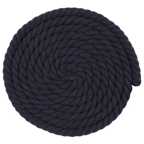 1/2 Inch Twisted Cotton Rope - Black