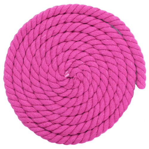 1/2 Inch Twisted Cotton Rope - Rose Red