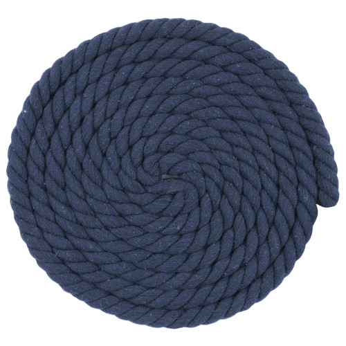 1/2 Inch Twisted Cotton Rope - Navy