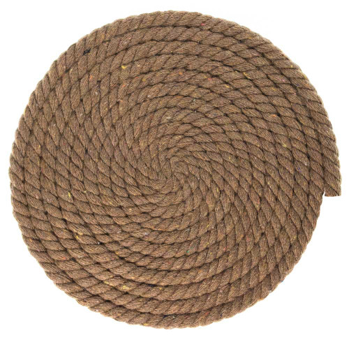 1/4 Inch Twisted Cotton Rope - Brown