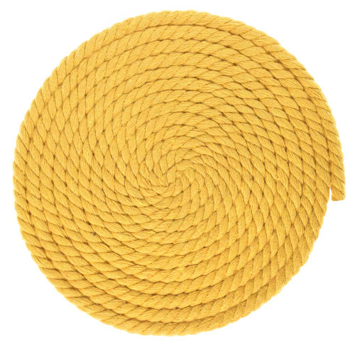 1/4 Inch Twisted Cotton Rope - Gold