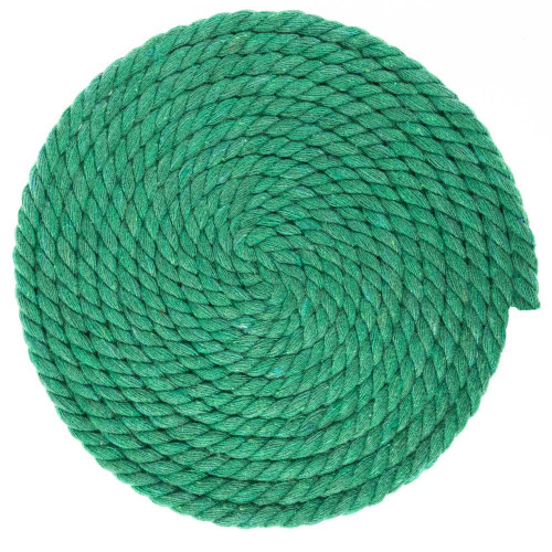 1/4 Inch Twisted Cotton Rope - Grass Green