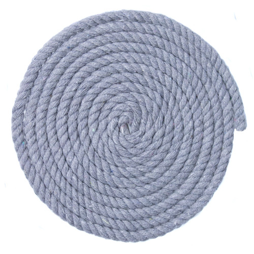 1/4 Inch Twisted Cotton Rope - Light Gray