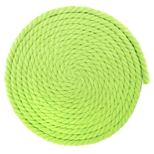 1/4 Inch Twisted Cotton Rope - Lime Green
