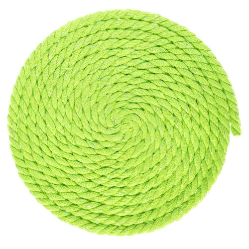 1/4 Inch Twisted Cotton Rope - Lime Green Glitter