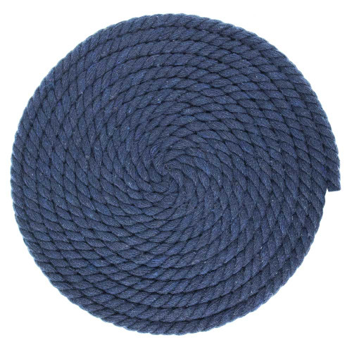 1/4 Inch Twisted Cotton Rope - Navy