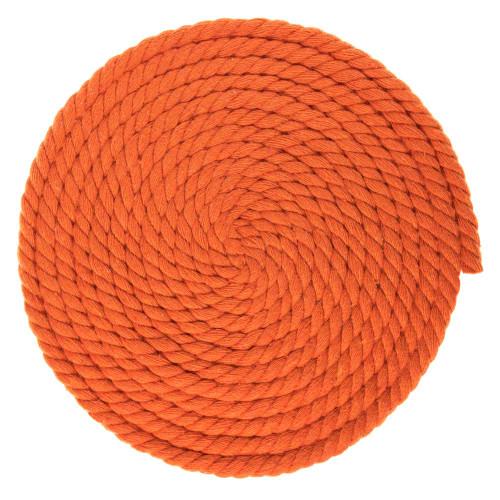 1/4 Inch Twisted Cotton Rope - Orange