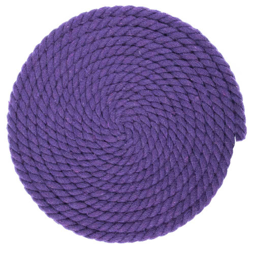 1/4 Inch Twisted Cotton Rope - Purple
