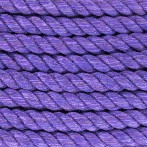 3-Strand Twisted Cotton 1/2 in Rope - Purple