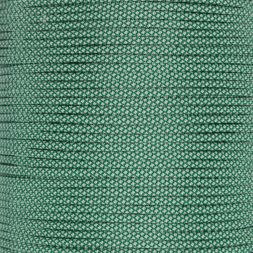 Kelly Green with Cream Diamonds  - 550 Paracord