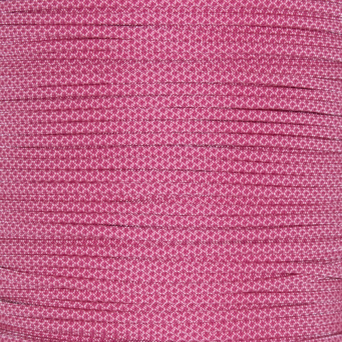 Rose Pink with Fuchsia Diamonds  - 550 Paracord