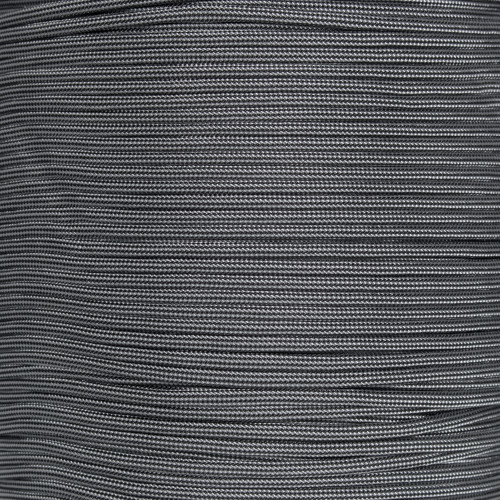 Silver Gray and Black Stripes  - 550 Paracord