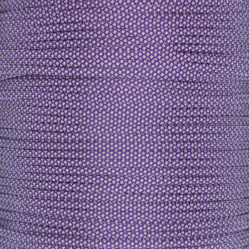 Acid Purple with Cream Diamonds 550 Paracord (7-Strand) - Spools
