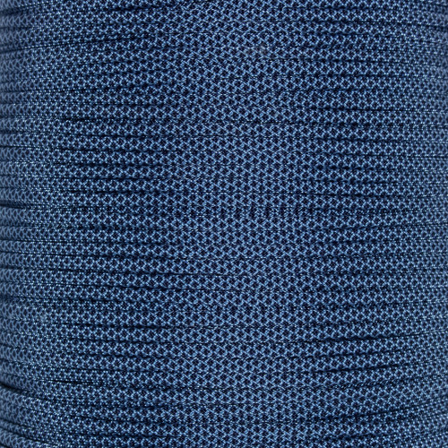 Baby Blue with Midnight Blue Diamonds 550 Paracord (7-Strand) - Spools