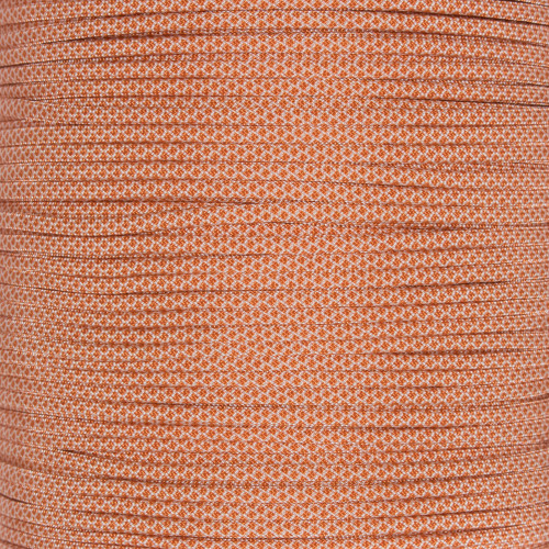 Cream with International Orange Diamonds 550 Paracord (7-Strand) - Spools
