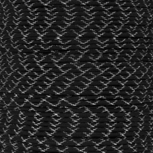Dark Knight 550 Paracord (7-Strand) - Spools with Metallic Tracers