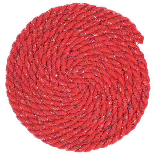 1/2 Twisted Cotton Rope - Firecracker