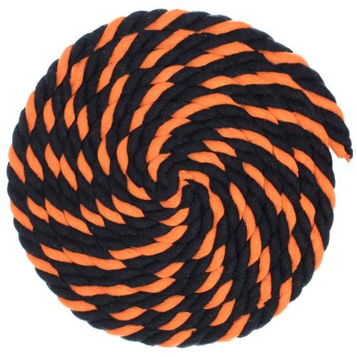 1/2 Twisted Cotton Rope - Jack O'Lantern
