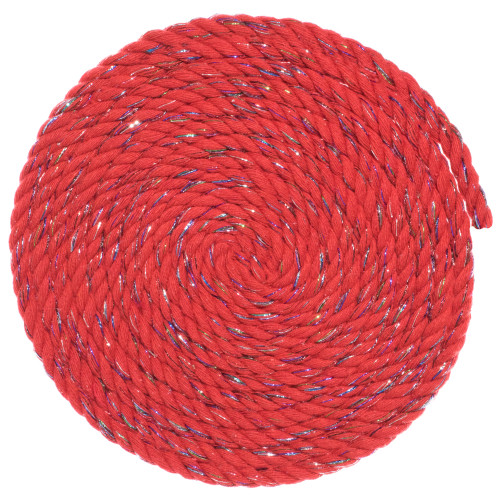 1/4 Twisted Cotton Rope - Firecracker