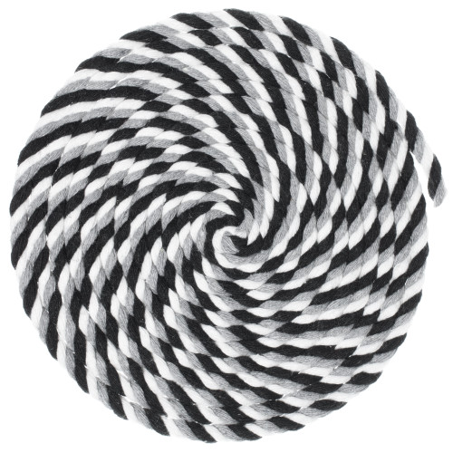1/4 Twisted Cotton Rope - Grayscale
