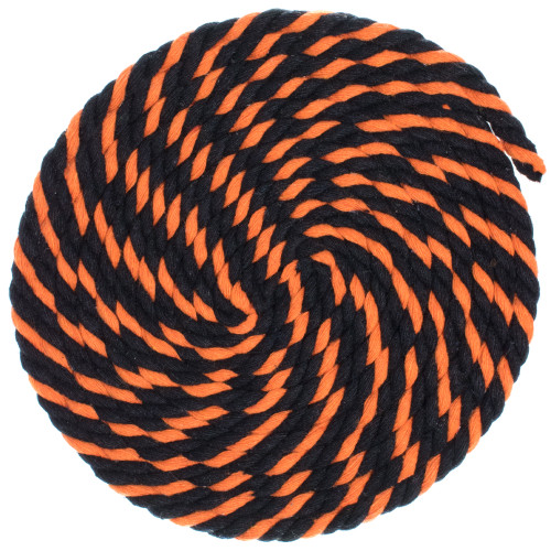 1/4 Twisted Cotton Rope - Jack O'Lantern