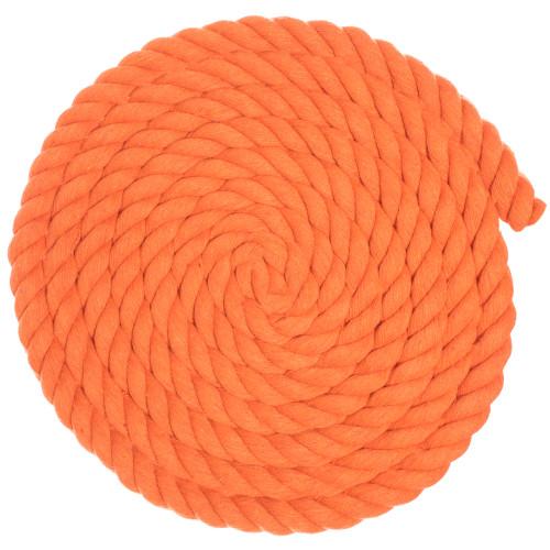 3/4 Twisted Cotton Rope - Orange