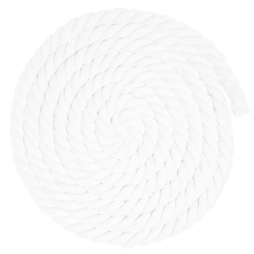 3/4 Twisted Cotton Rope - White