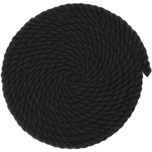 3/8 inch Twisted Cotton Rope - Black