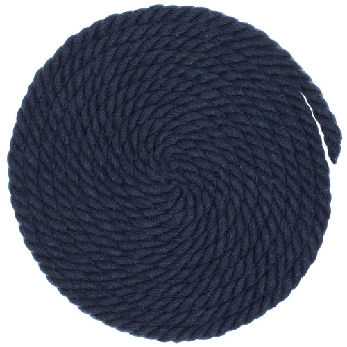 3/8 inch Twisted Cotton Rope - Navy