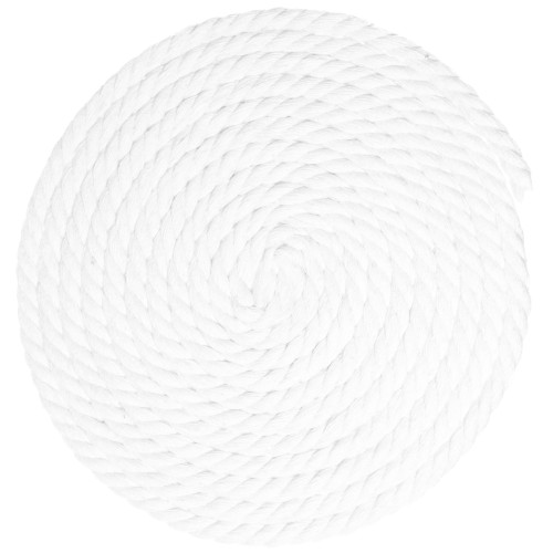 3/8 inch Twisted Cotton Rope - White