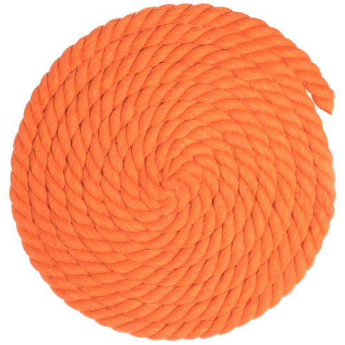 5/8 inch Twisted Cotton Rope - Orange