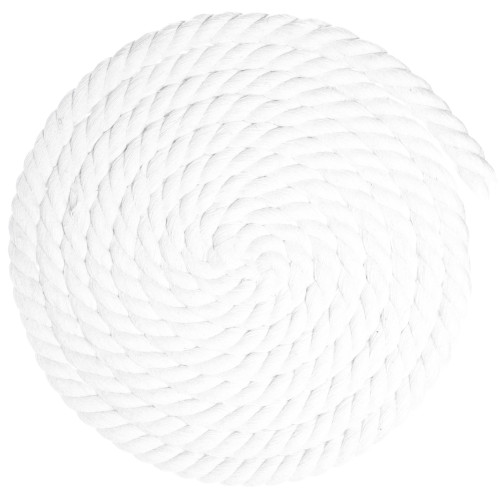 5/8 inch Twisted Cotton Rope - White