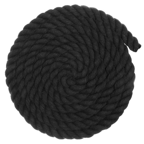 1 inch Twisted Cotton Rope - Black