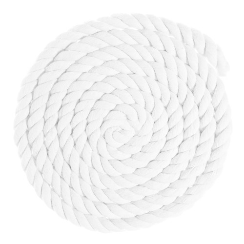 1 inch Twisted Cotton Rope - White