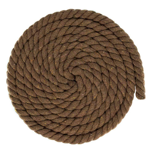 1/2 inch Twisted Cotton Rope - Brown