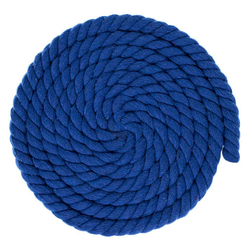 1/2 inch Twisted Cotton Rope - Royal Blue