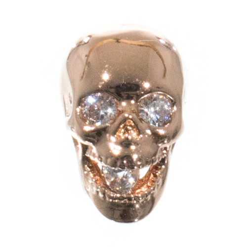 Jaw Dropper Skull with Rhinestones - Rose Gold