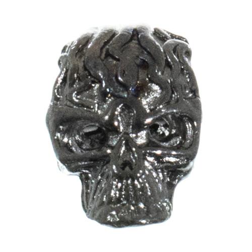 Flaming Skull Bead - Graphite