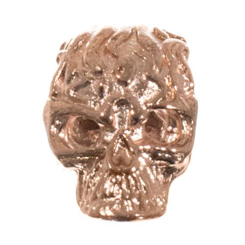 Flaming Skull Bead - Copper