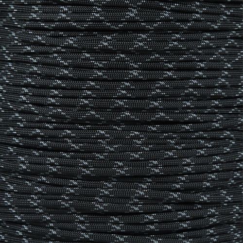 Black with Gray X - 550 Paracord - 100 Feet