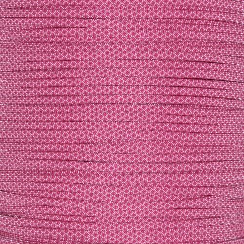 Rose Pink w/ Fuchsia Diamonds  - 550 Paracord - 100ft