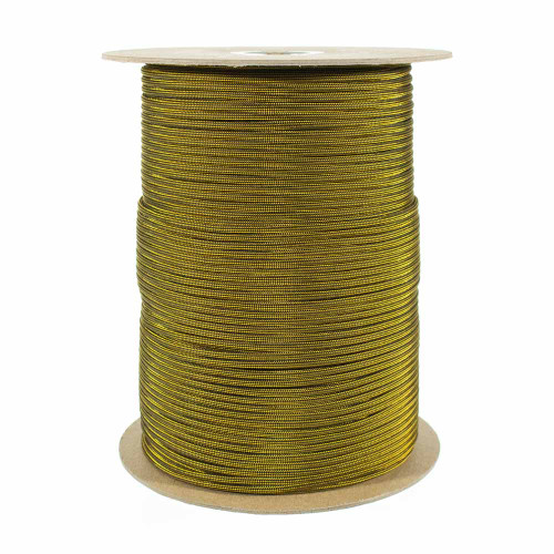 Goldenrod and Black Stripes 550 Paracord (7-Strand) - Spools