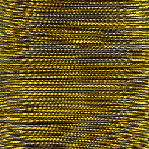 Goldenrod and Black Stripes - 550 Paracord - 100 Feet