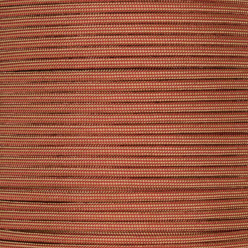 Gold and Imperial Red Stripes - 100 feet of 550 Paracord