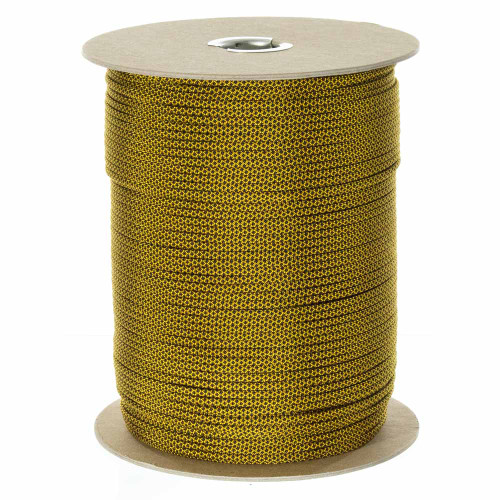 Goldenrod w/ Black Diamonds 550 Paracord (7-Strand) - Spools
