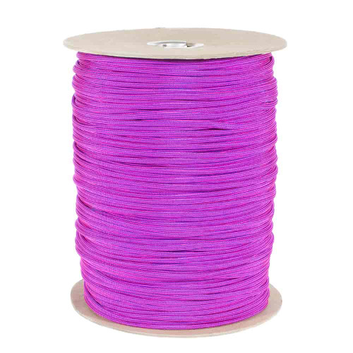Electric Blue and Neon Pink Stripes  550 Paracord (7-Strand) - Spools
