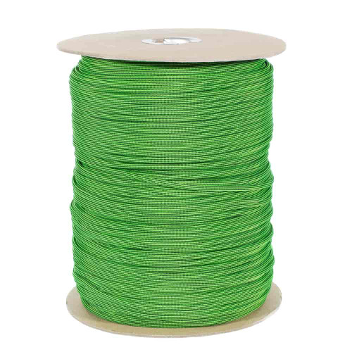 Neon Green and Black Stripes  550 Paracord (7-Strand) - Spools