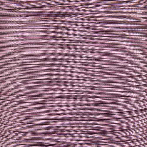 Rose Pink and Black Stripes - 550 Paracord - 100 Feet