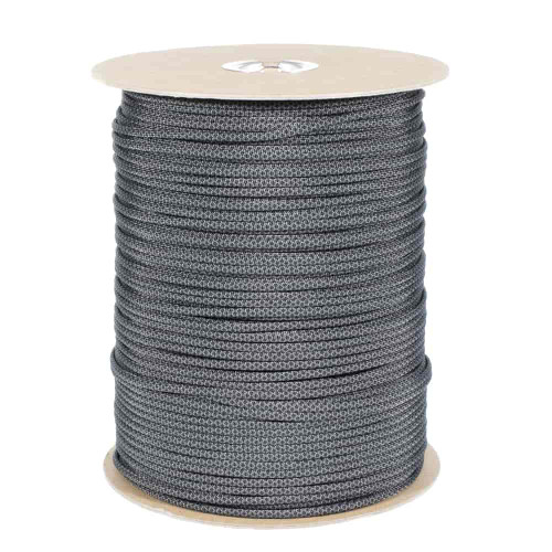 Charcoal with Black Diamonds  550 Paracord (7-Strand) - Spools